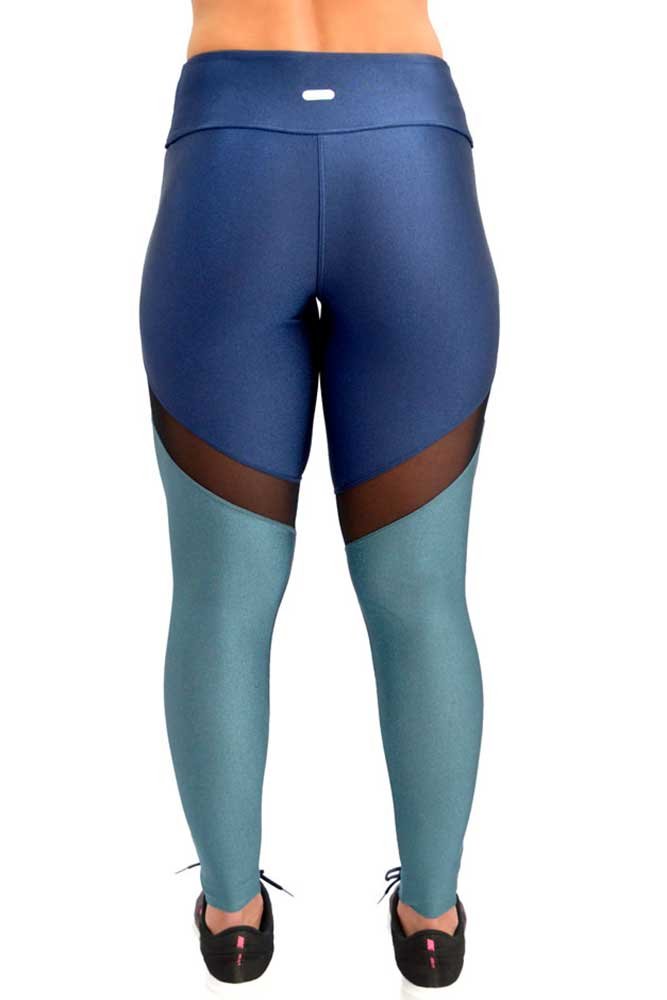 LEGGING LYCRA DUO METALIZADO AZUL TOP MODEL