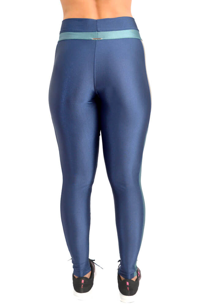 LEGGING LYCRA EXCLUSIVA TRILOBAL AZUL MARINHO TOP MODEL