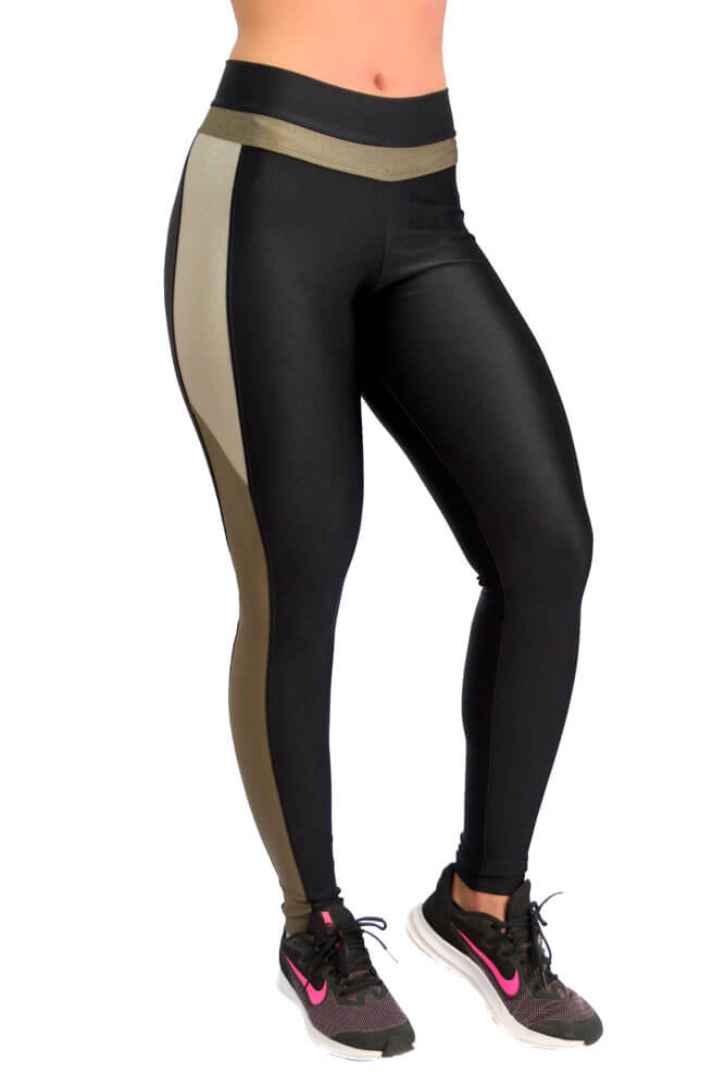 LEGGING LYCRA EXCLUSIVA TRILOBAL PRETO TOP MODEL