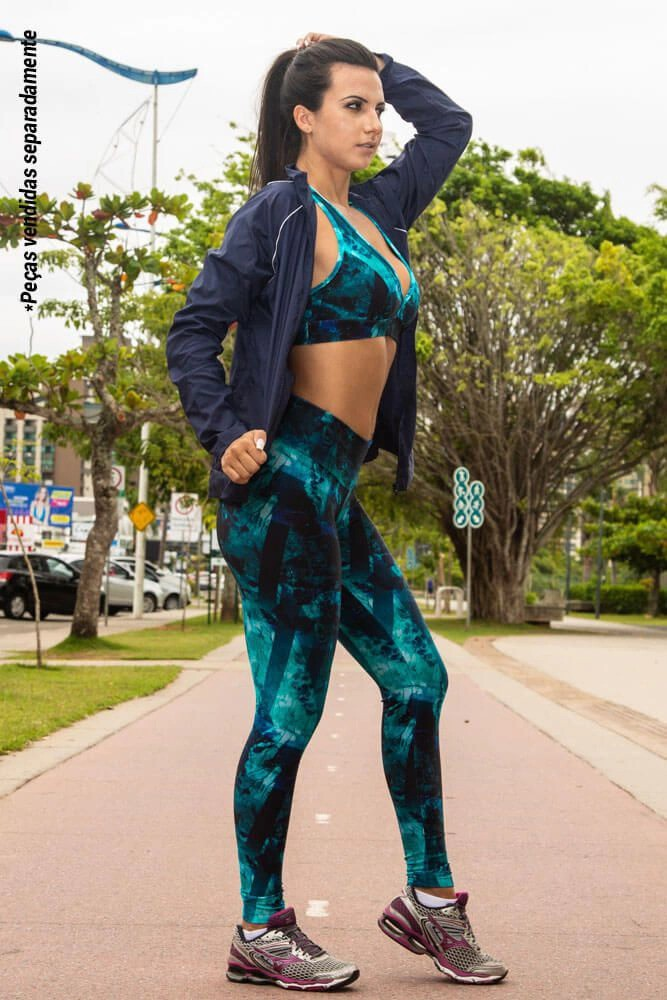 LEGGING LYCRA FIT OCEANO CÓS ANATÔMICO TOP MODEL