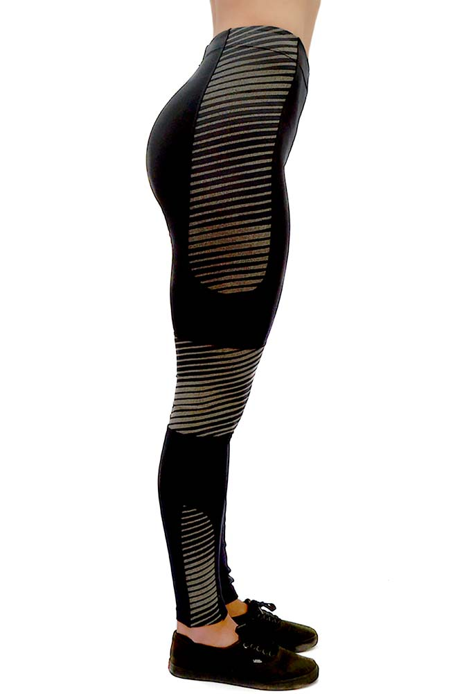 LEGGING MONTARIA KORA VIVO PRETA REFLETIVA TOP MODEL