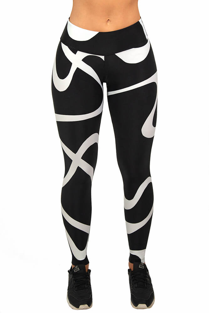 LEGGING POWER SPORT WORLD BRANCO CÓS ANATÔMICO TOP MODEL