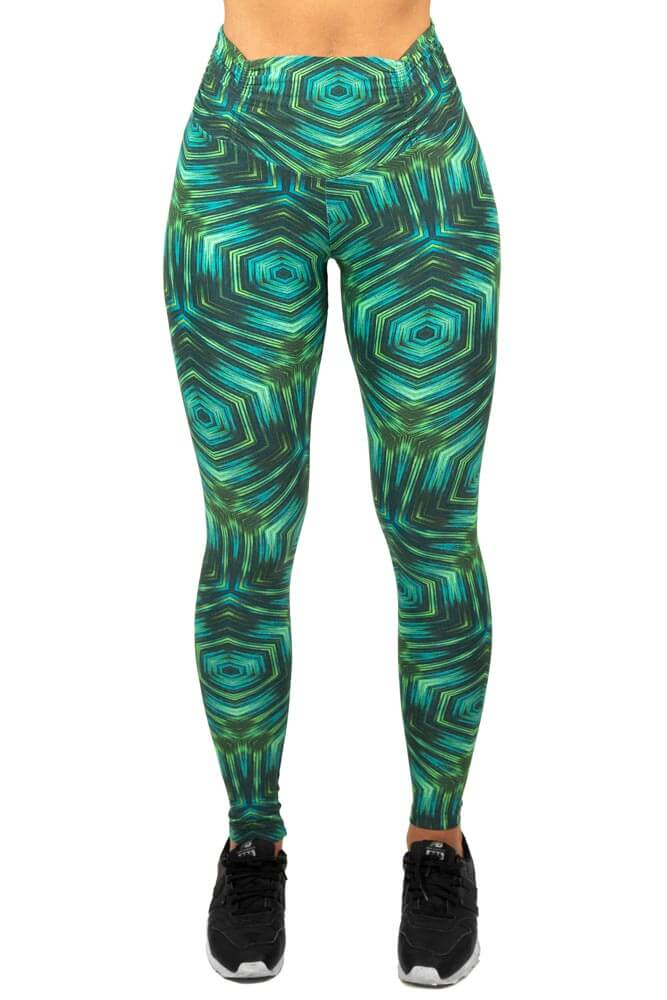 LEGGING SUPLEX CÓS FRANZIDO GEOMETRIC VERDE TOP MODEL