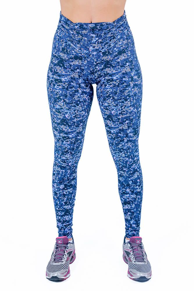 LEGGING SUPPLEX BASIC PRINT MATRIX AZUL CÓS FRANZIDO TOP MODEL