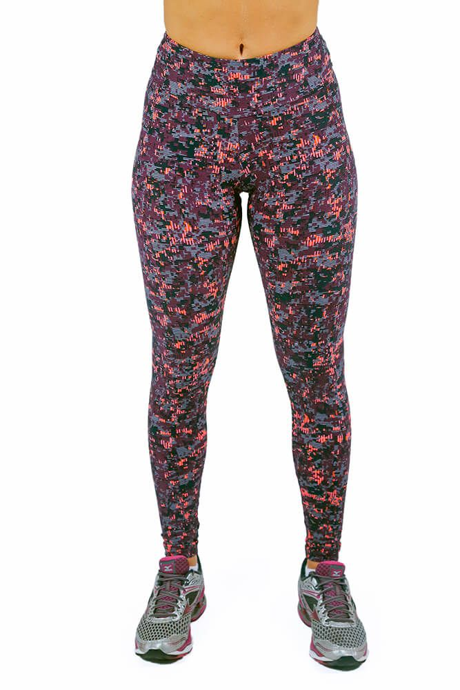 LEGGING SUPPLEX BASIC PRINT MATRIX ROXA CÓS ANATÔMICO TOP MODEL