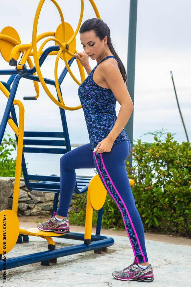 LEGGING SUPPLEX TRILHO AZUL CÓS ANATÔMICO TOP MODEL