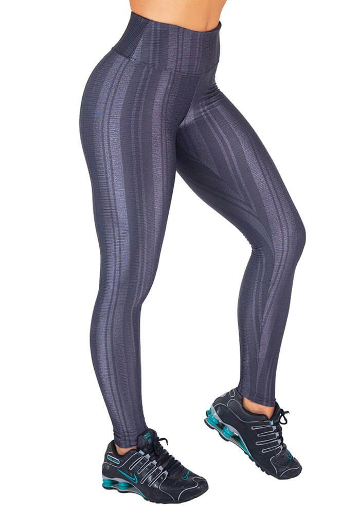 LEGGING TEXTURIZADA DAYTONA CINZA CARBOX TOP MODEL