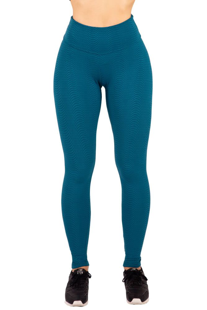 LEGGING TEXTURIZADA WAVE AZUL SUBMARINE TOP MODEL