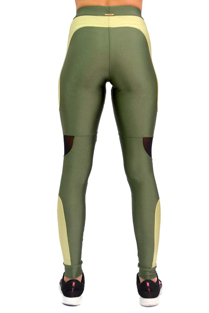 LEGING LYCRA QUITERIA VERDE TOP MODEL