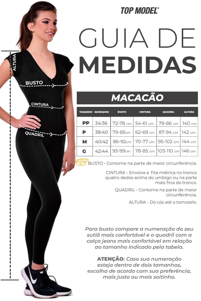 MACACÃO CORPETE YOGA PRETO TOP MODEL