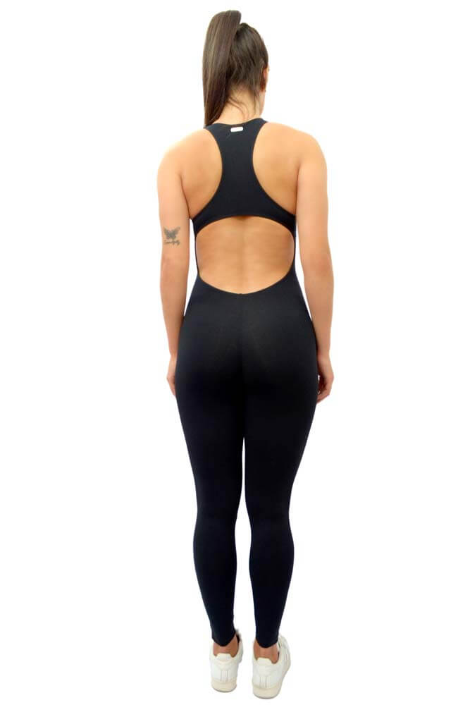 MACACÃO LEGGING EMANA PRETO TOP MODEL