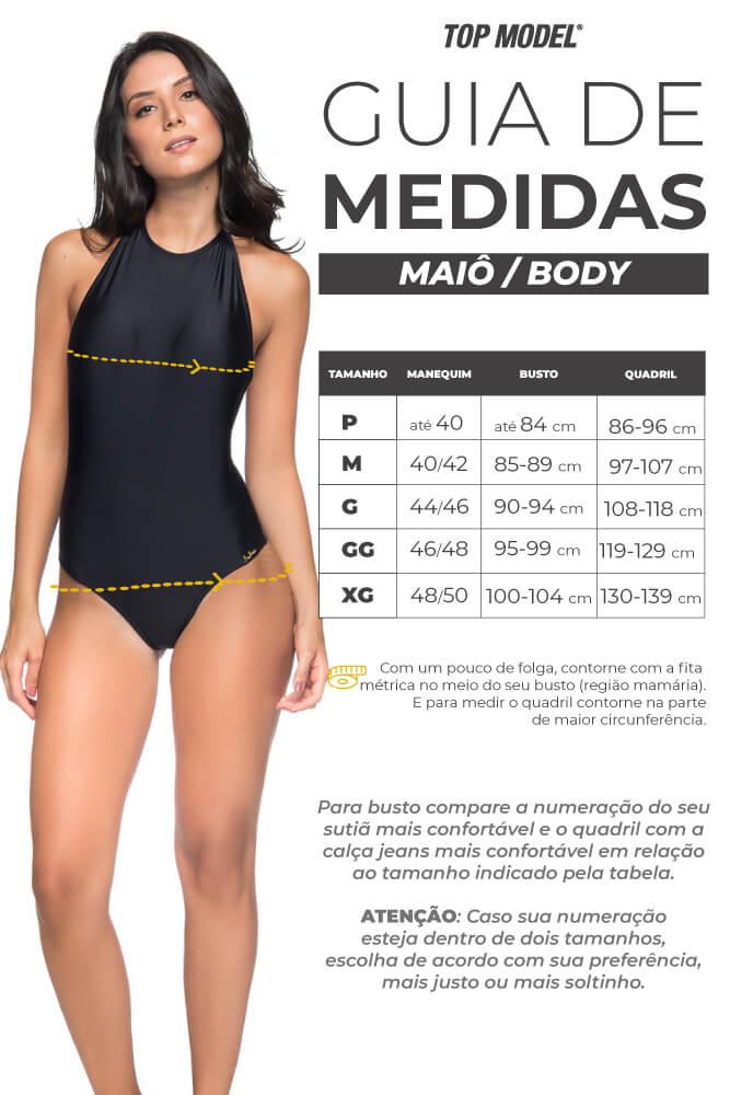 MAIÔ DECOTADO FRENTE ÚNICA COLAR GUARÁ VERMELHO LUA MORENA