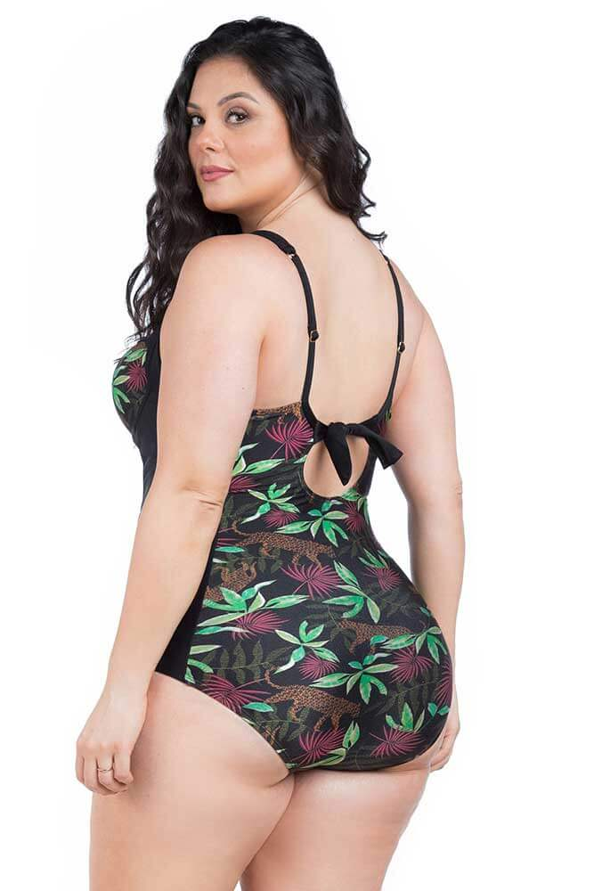 MAIÔ PLUS SIZE MEIA TAÇA COM BOJO JUNGLE LA PLAYA