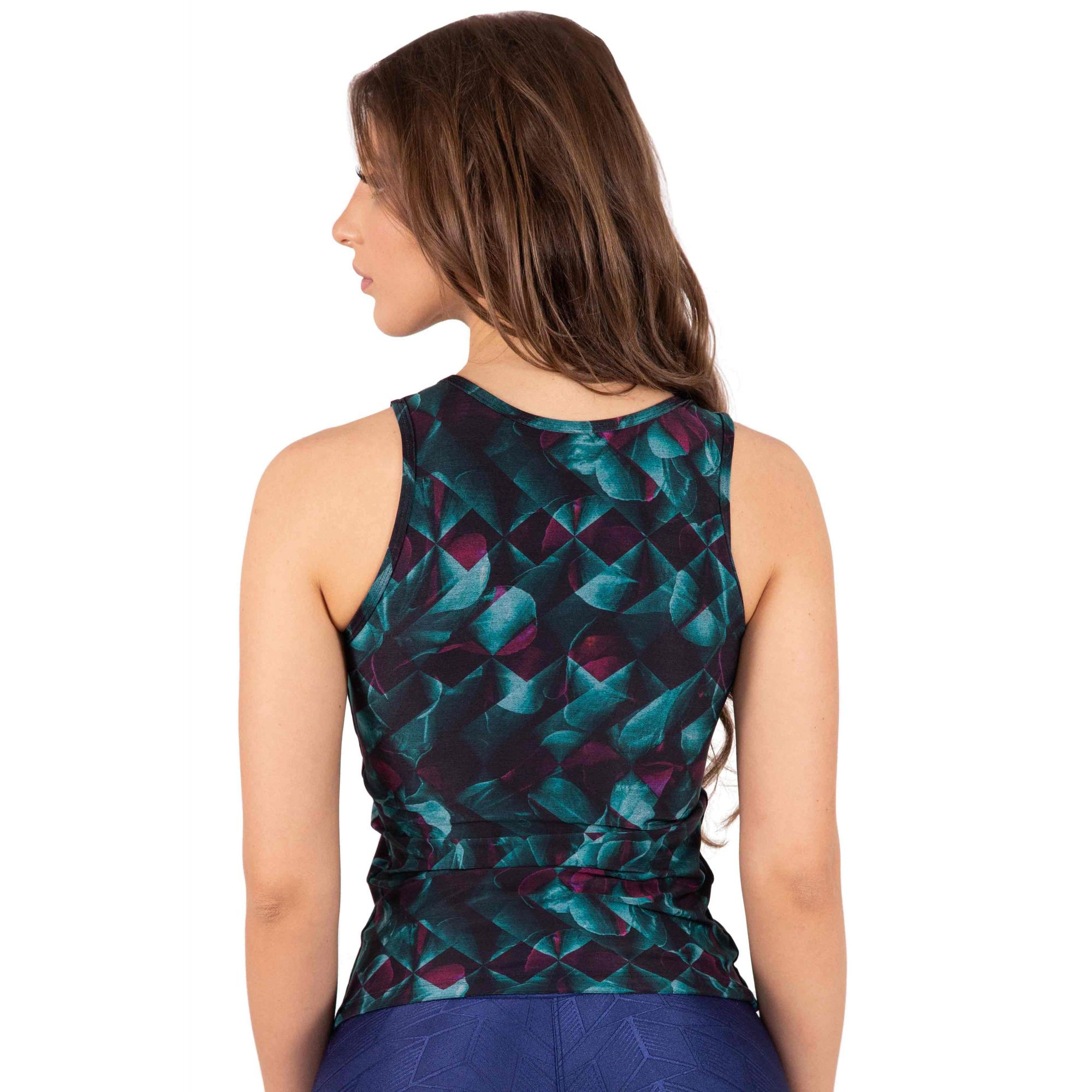 REGATA ESTAMPADA CASUAL DOUBLE ONIX FLORAL TOP MODEL
