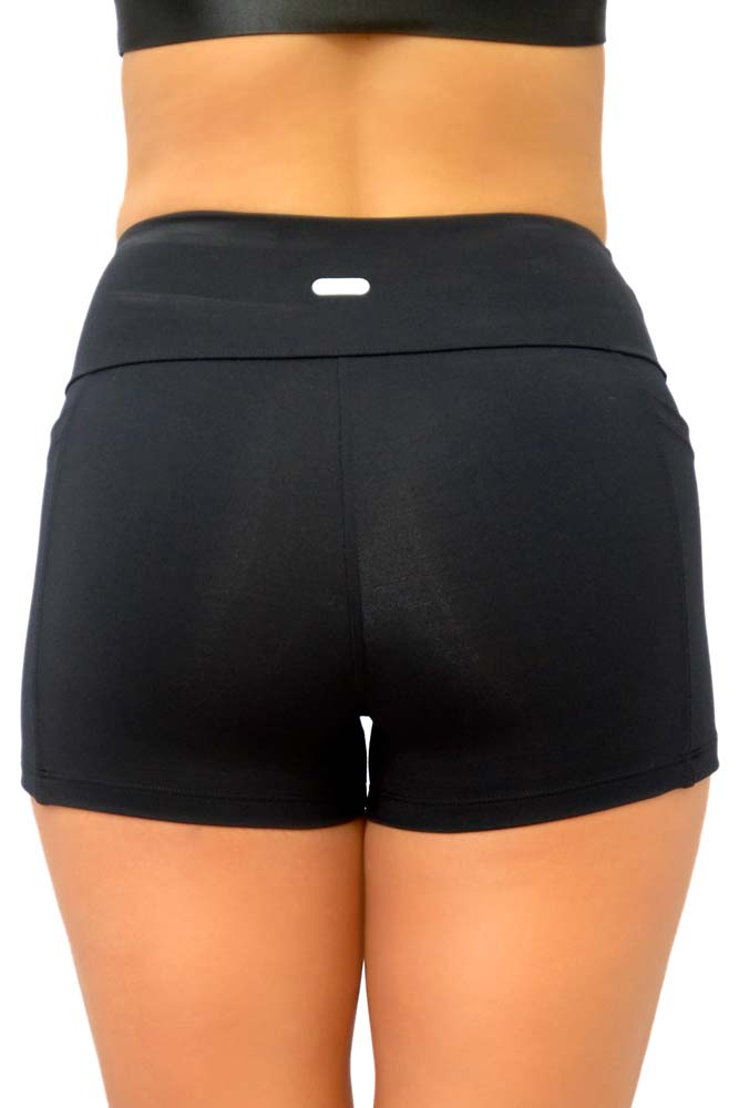 SHORTS COM BOLSO EMANA PRETO TOP MODEL
