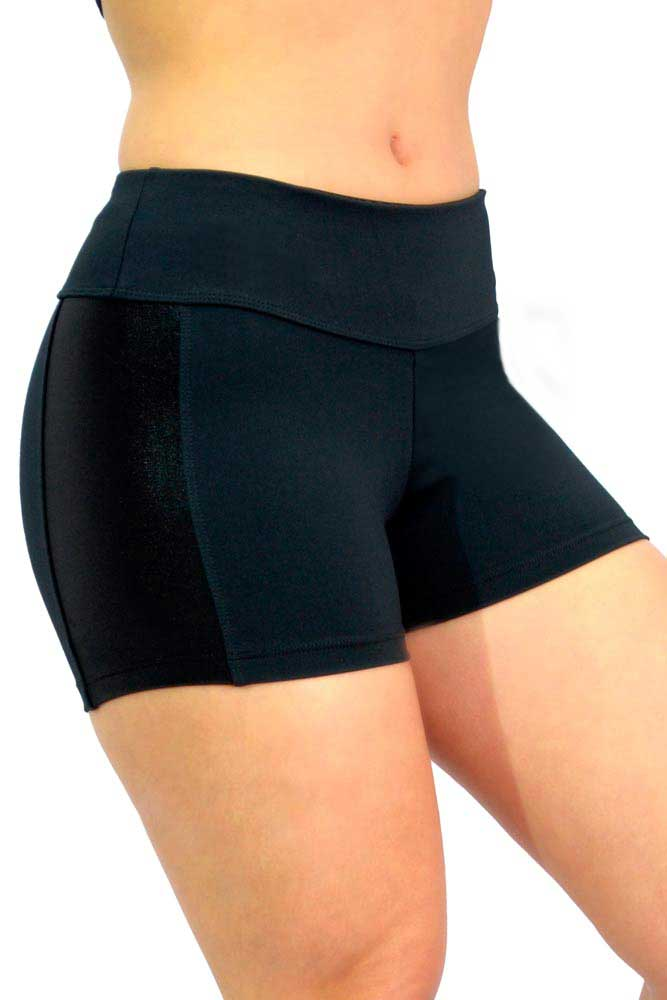 SHORTS DUAL EMANA E CIRRE PRETO TOP MODEL