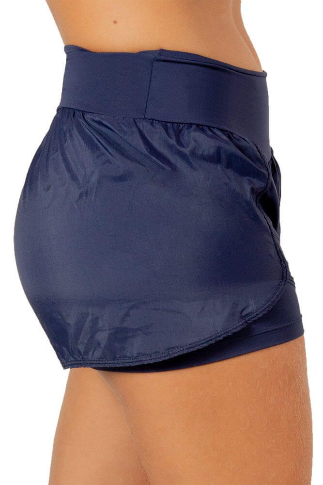 SHORTS SOBREPOSTO AZUL MARINHO TOP MODEL