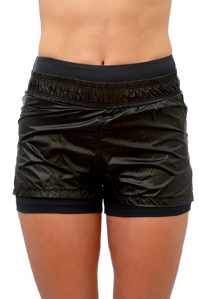 SHORTS SOBREPOSTO BOX PRETO TOP MODEL
