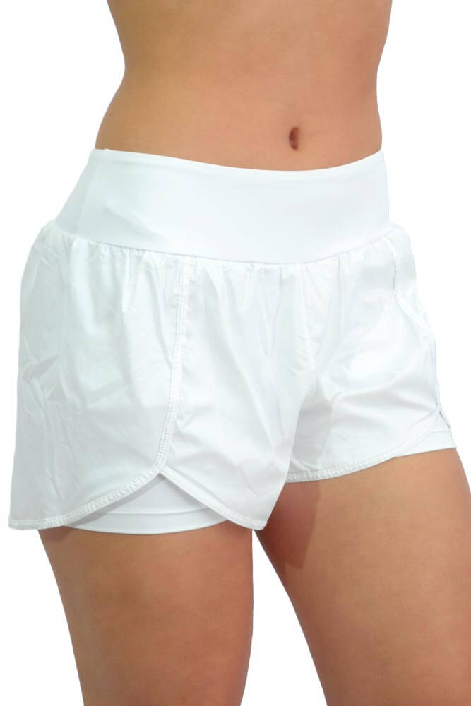 SHORTS SOBREPOSTO BRANCO TOP MODEL