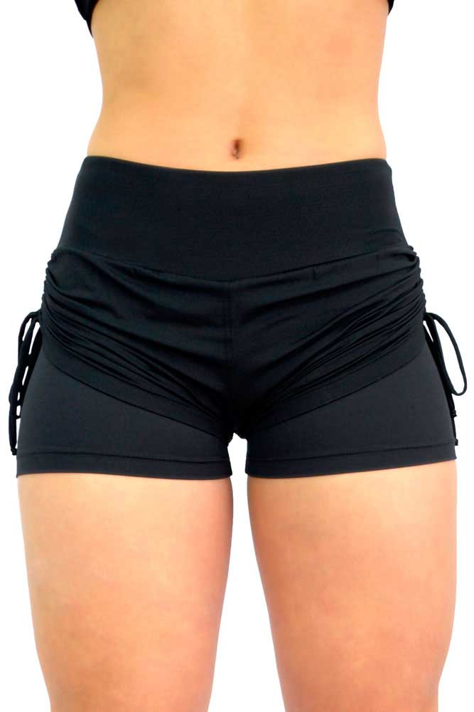 SHORTS SOBREPOSTO FRANZIR PRETO TOP MODEL