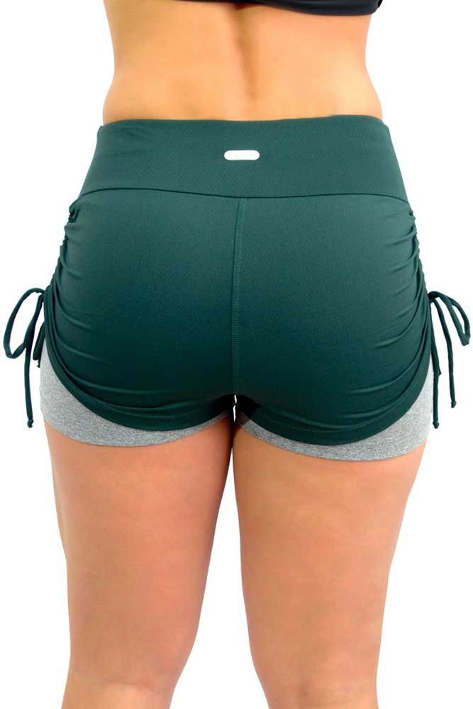 SHORTS SOBREPOSTO FRANZIR VERDE E MESCLA TOP MODEL