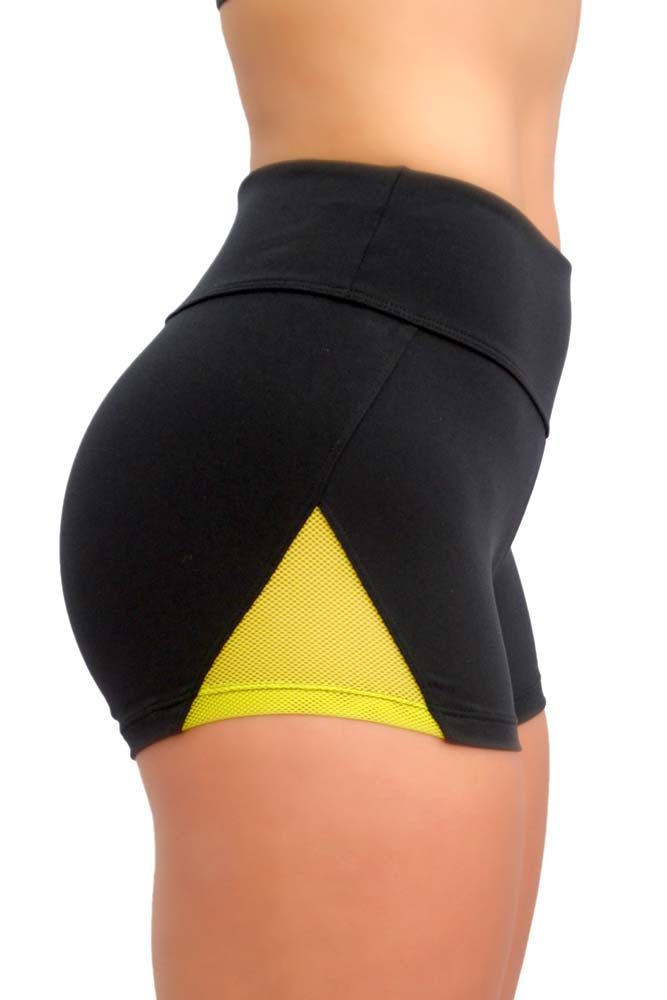 SHORTS SUPLEX PIRÂMIDE PRETO E VERDE TOP MODEL