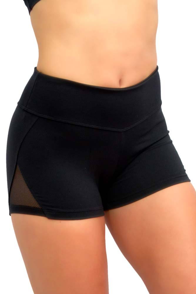 SHORTS SUPLEX PIRÂMIDE PRETO TOP MODEL