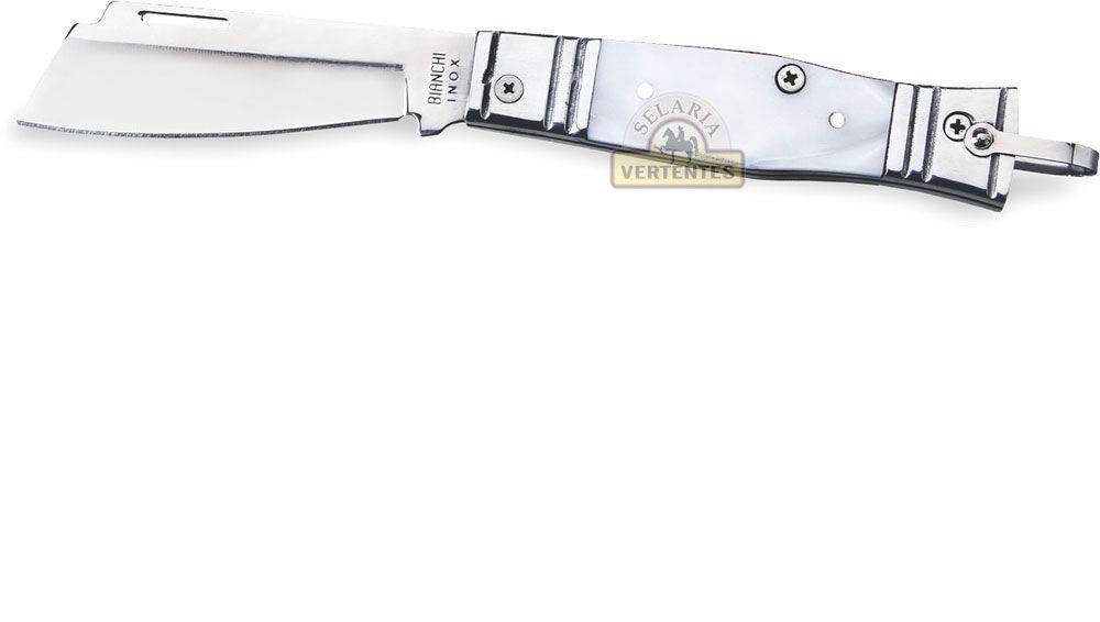 "Canivete Bianchi Tradicional Alumínio/Acrílico 3 1/4"" SV10103/33"