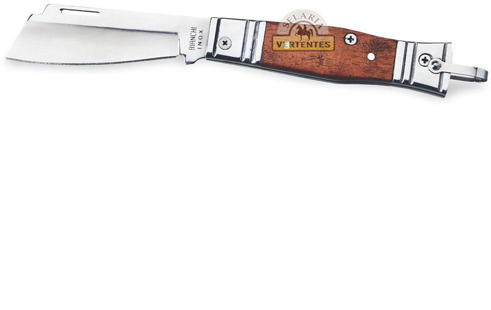 "Canivete Bianchi Tradicional Alumínio/Madeira 3 1/4"" SV10102"