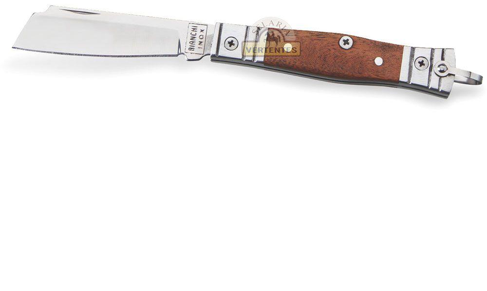 "Canivete Bianchi Tradicional Alumínio/Madeira 3"" SV10102/22"