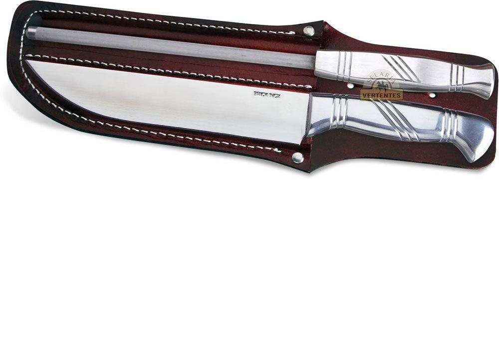 """Conjunto Bianchi Silver Alumínio 8"""" Com Bainha/SV30601/38"""