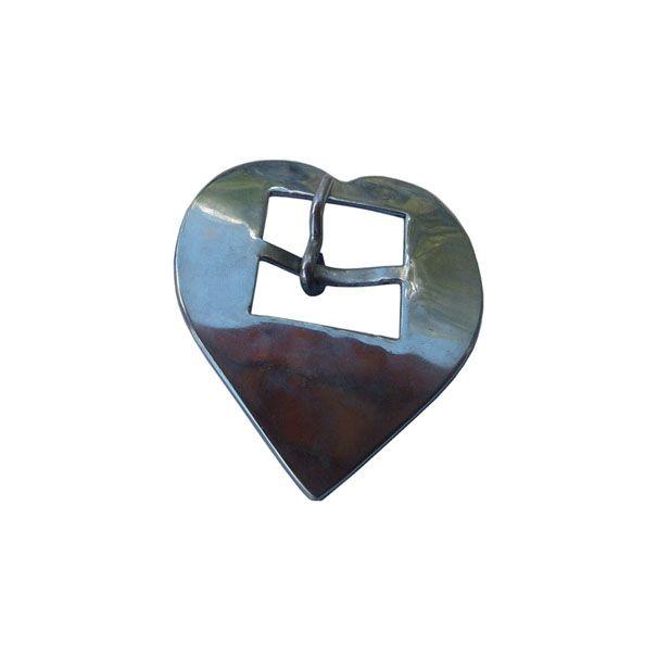 Fivela Coração Inox Nº 16 SV0028
