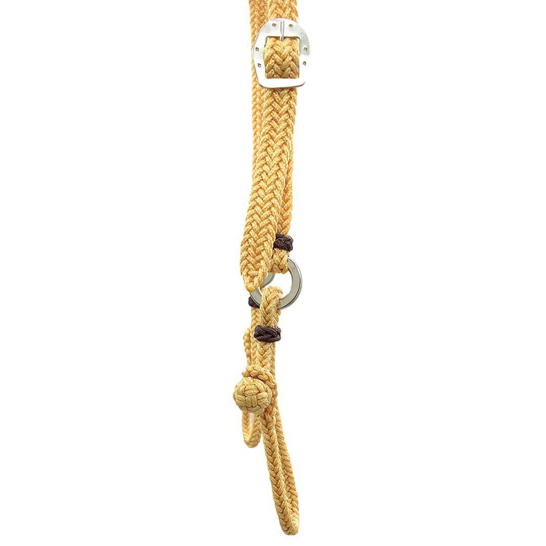 Kit Cabeçada e Peitoral trançados de corda - Bege SV5229