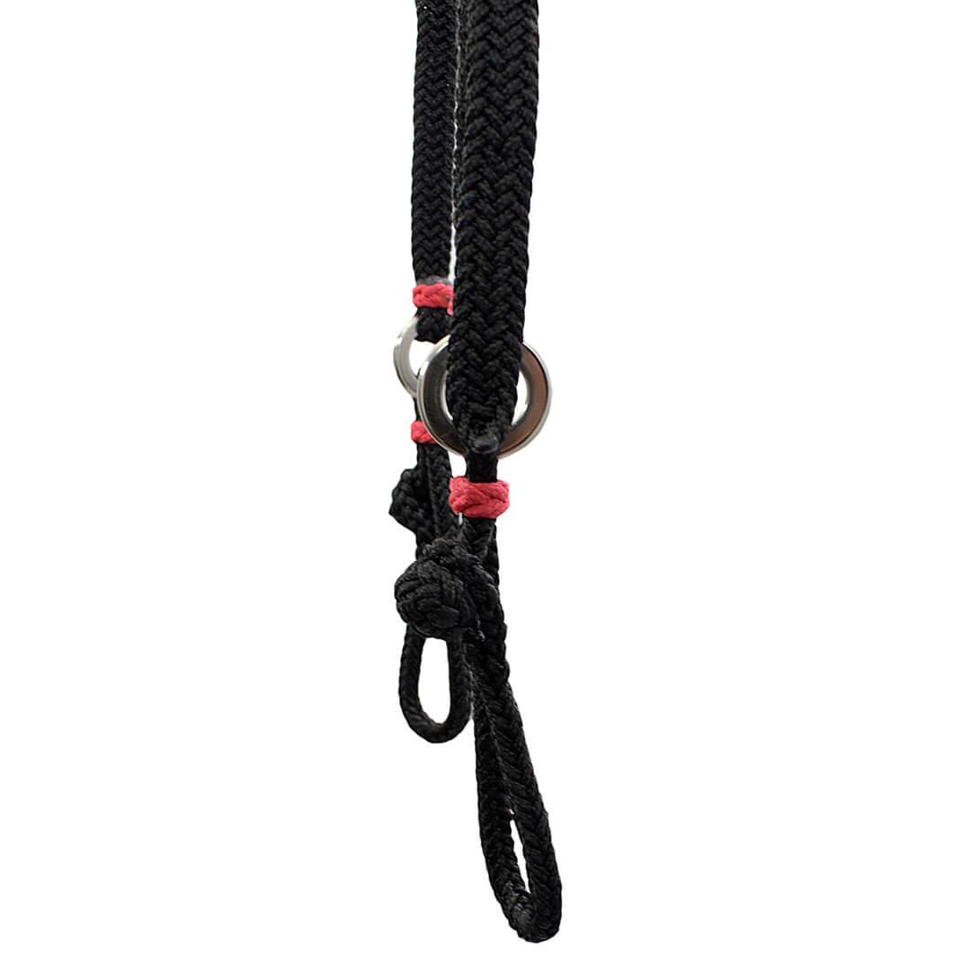 Kit Cabeçada e Peitoral trançados de corda - Preta SV5228