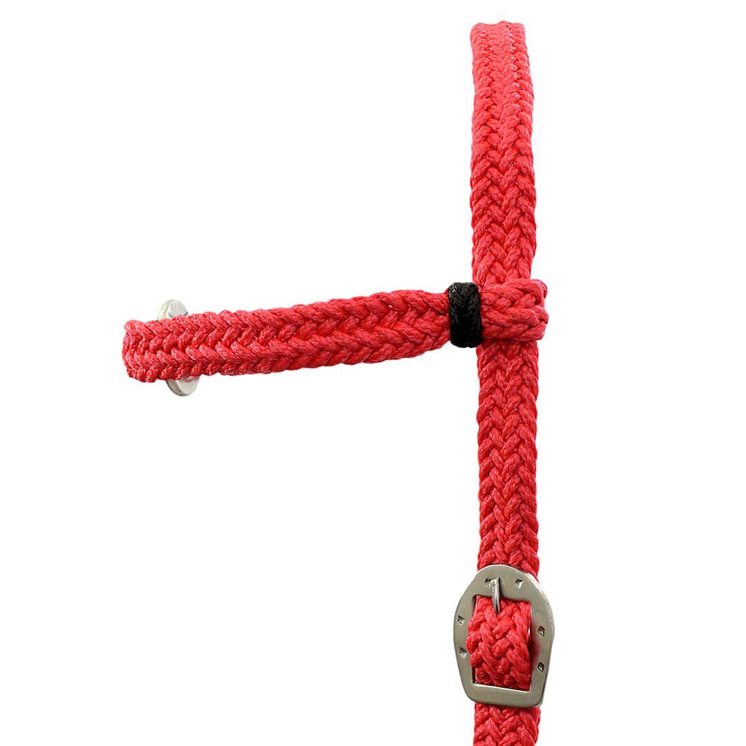 Kit Cabeçada e Peitoral trançados de corda - Vermelho SV5230