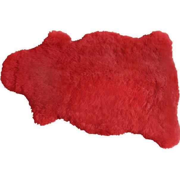Pelego Natural de Pele de Carneiro SV7945 - Vermelho