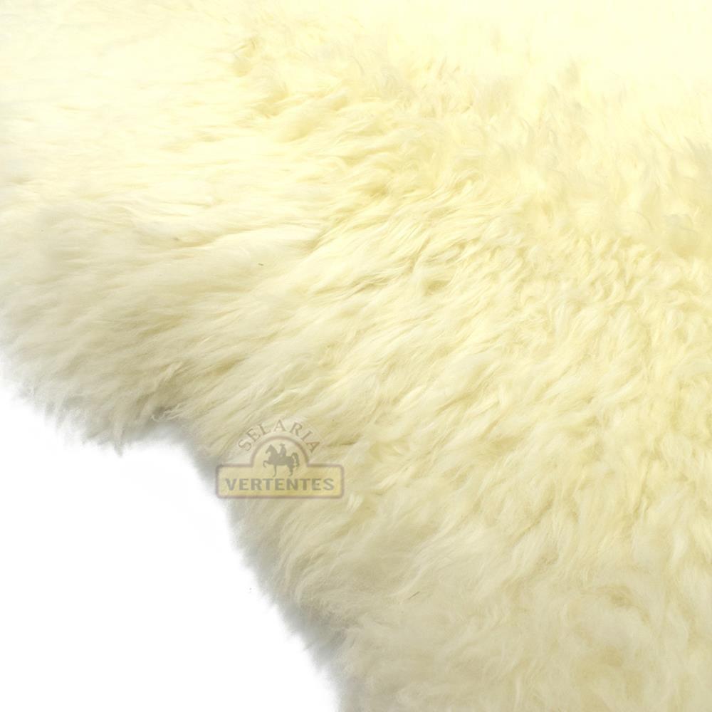 Pelego Natural de Pele de Carneiro SV7965 - Branco