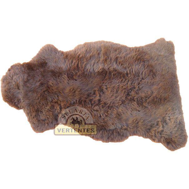 Pelego Natural de Pele de Carneiro SV7978 - Marrom