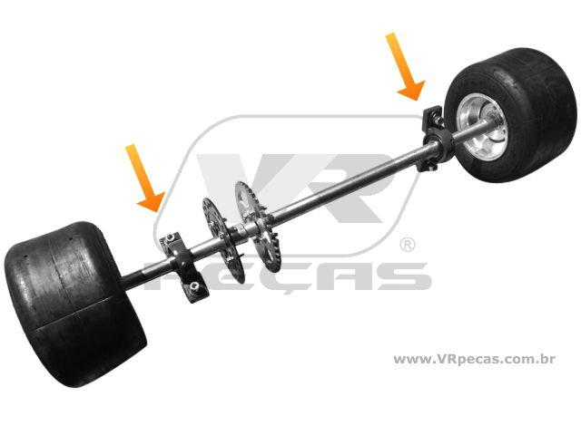 Mancal Eixo Traseiro Kart/Drift Trike, para eixos de 40mm
