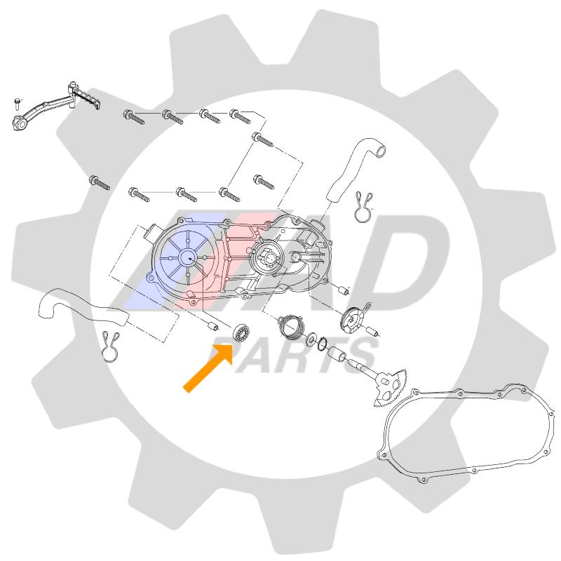 Rolamento Capa da Partida CAN AM DS90 2009 até 2021
