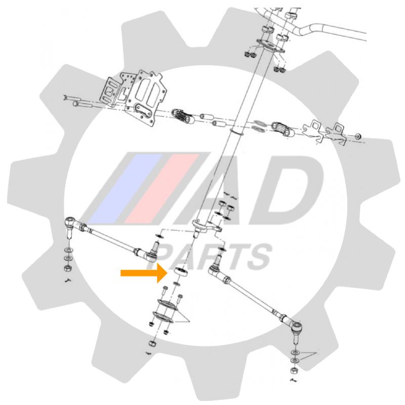 Rolamento Coluna Direção CAN AM DS 450 de 2007 até 2015