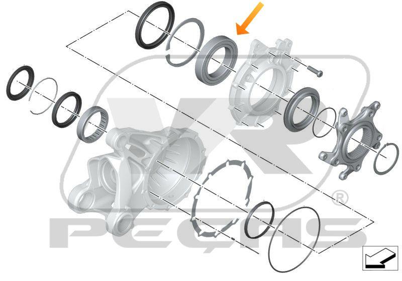 Rolamento Coroa Roda Traseira BMW 1200/900/R nineT