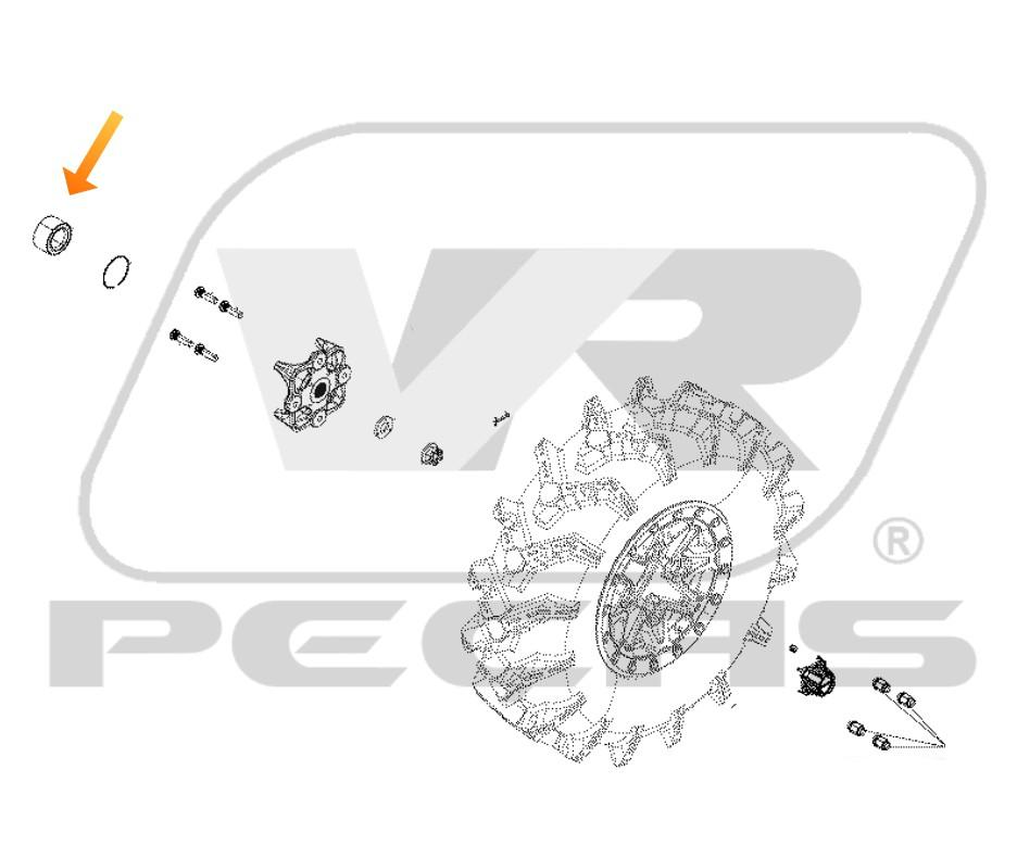 Rolamento de roda CAN AM Maverick X3 de 2017 até 2021