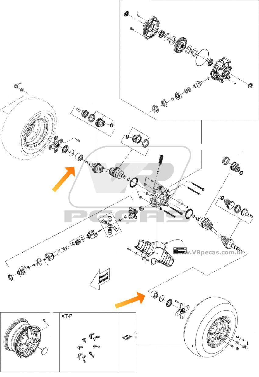 Rolamento de roda CAN AM Traxter 2005-2017