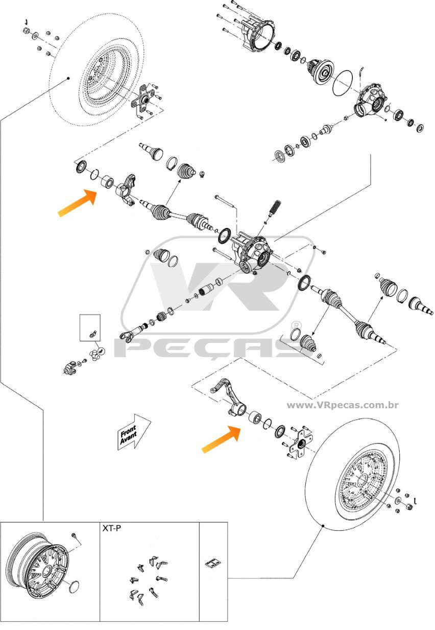Rolamento de roda dianteira CAN AM DS 2008-2015