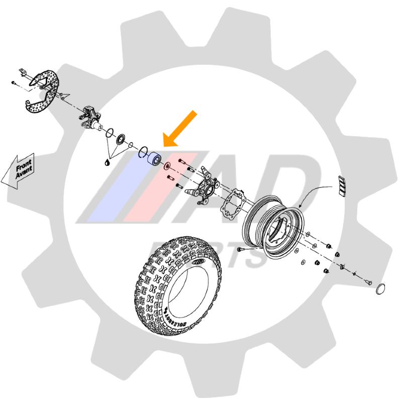 Rolamento de roda dianteira CAN AM DS 450 de 2008 ate 2015