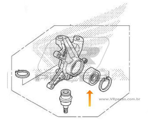 Rolamento de Roda Dianteira HONDA TRX 2000 até 2013, 4x4