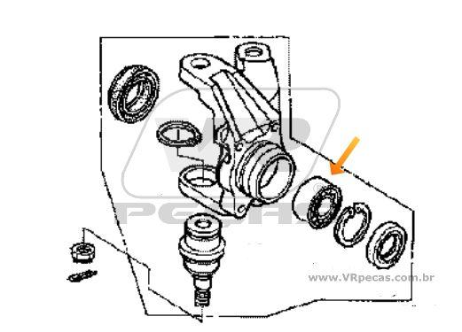 Rolamento de Roda Dianteira HONDA TRX 2001 até 2013, 4x4