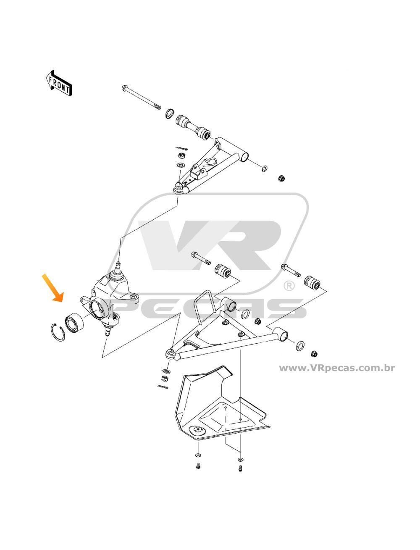 Rolamento de roda Dianteira KAWASAKI Praire 2006-2013