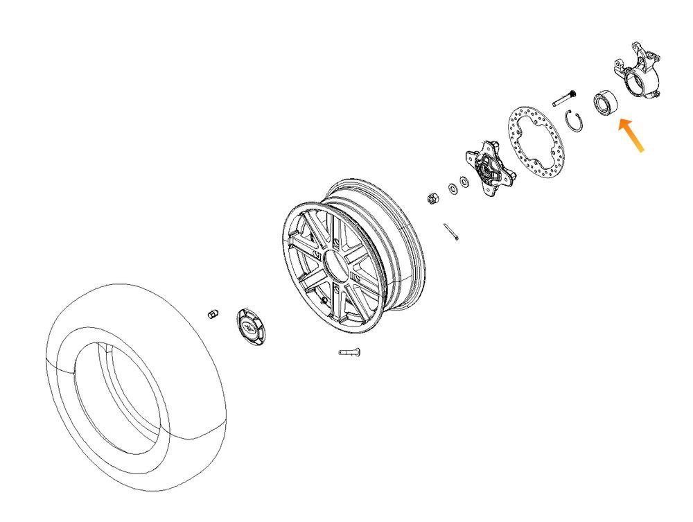 Rolamento de Roda Dianteira Polaris Brutus 2014-2018